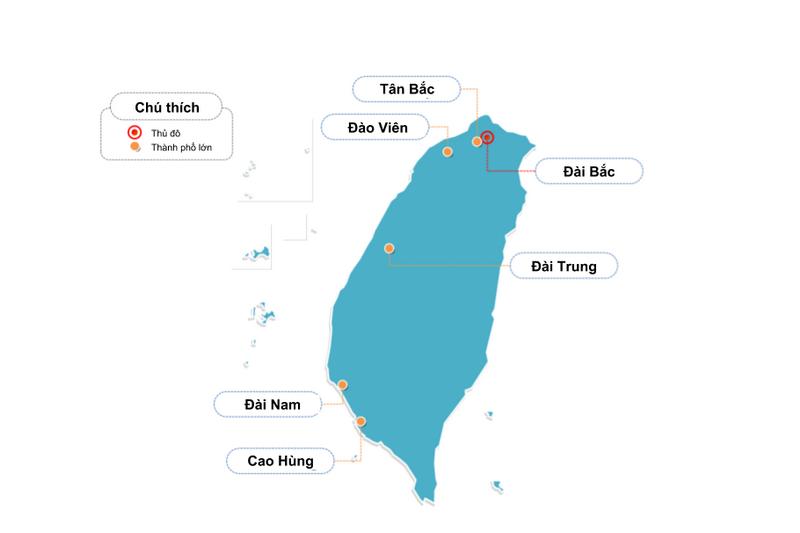 Các thành phố lớn của Đài Loan