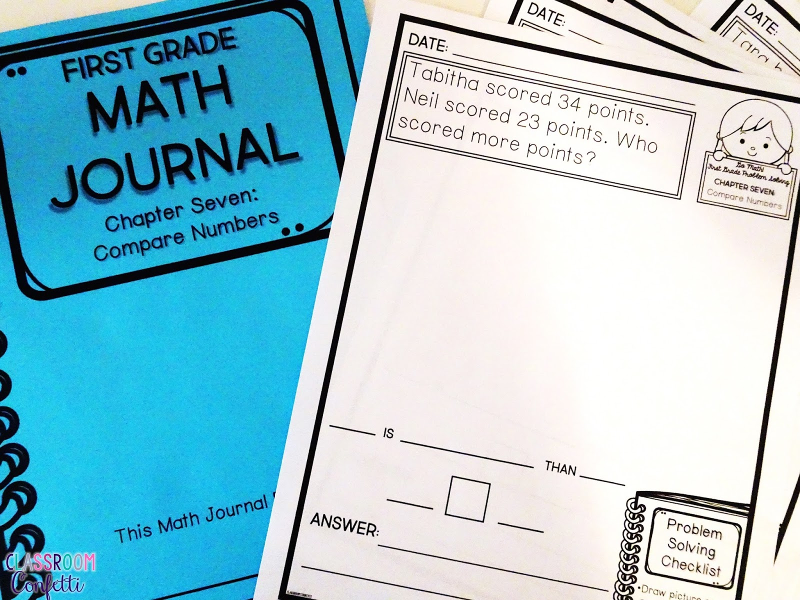 Classroom Design Journal Articles ~ Go math journals for first grade classroom confetti