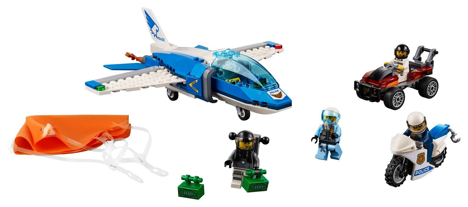 LEGO City Polícia Aérea Paraquedas