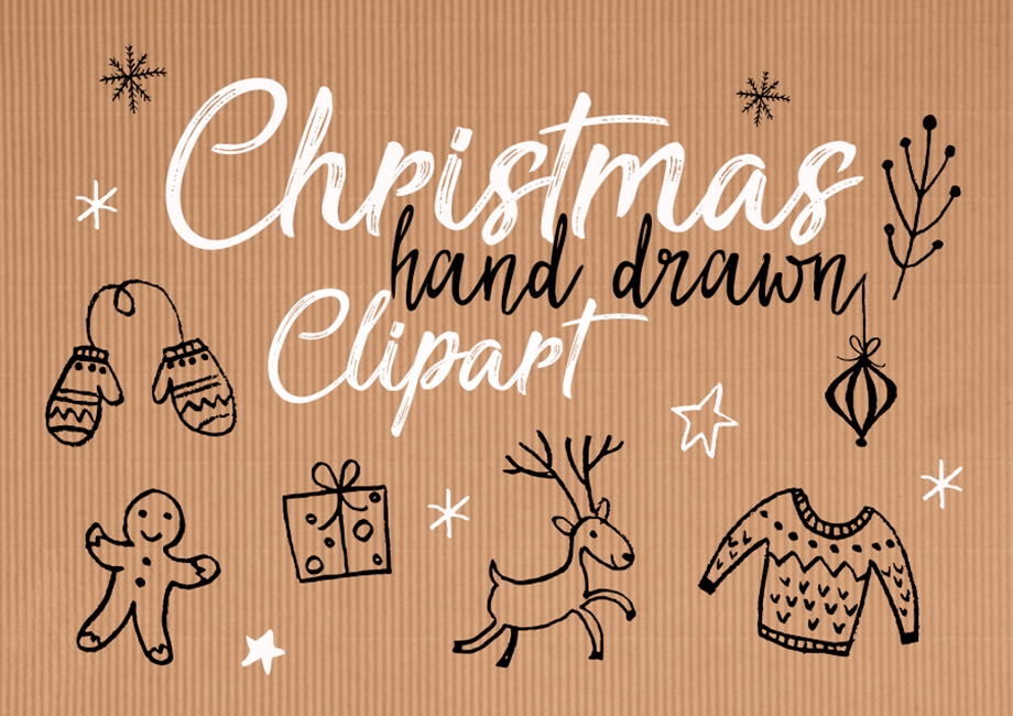 Christmas hand drawn clipart