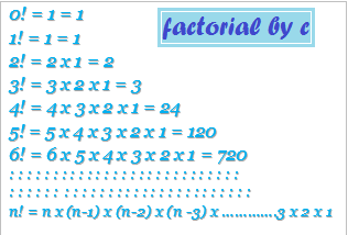 factorial-by-c