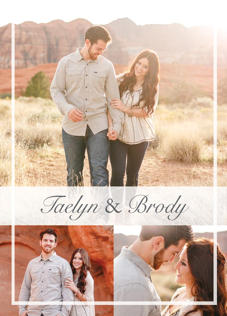 Taelyn U0026 Brodyu0027s 5z7 Wedding Invitations