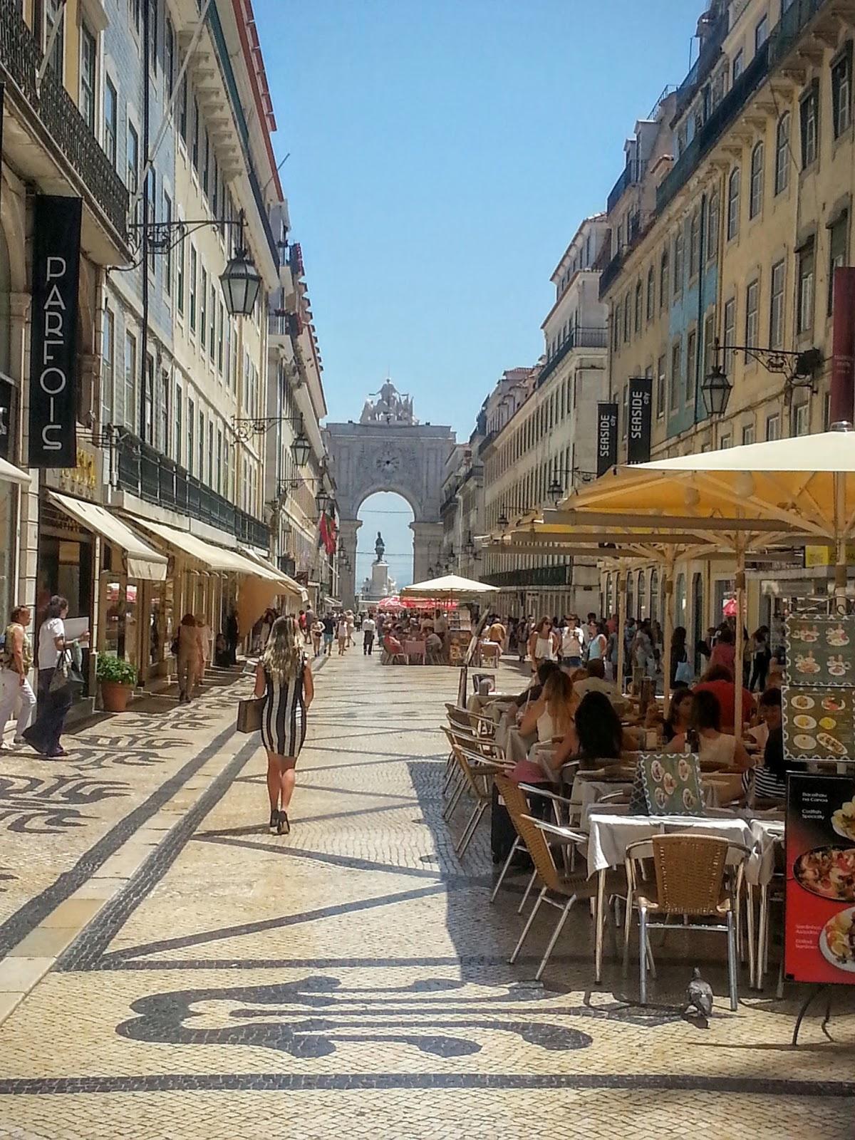 Winkelstraat in Lissabon