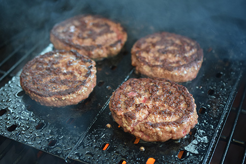 Burgers on GrillGrates