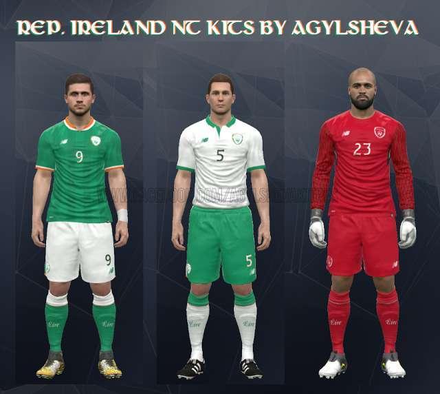 Republik Irlandia 2017-18 Kit PES 2017