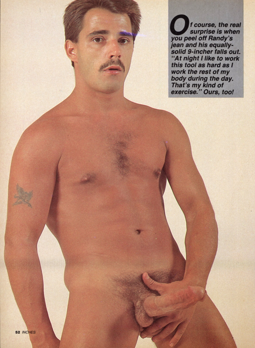 Retro mustache men naked accept