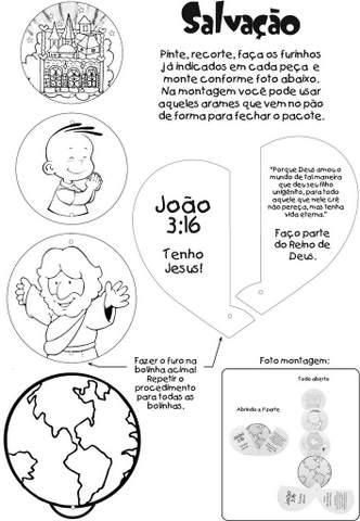 Desenhos Evangelicos Para Recortar E Colar Aprender E Brincar