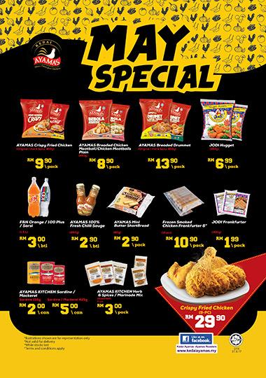 Kedai Ayamas May Special Discount Promo