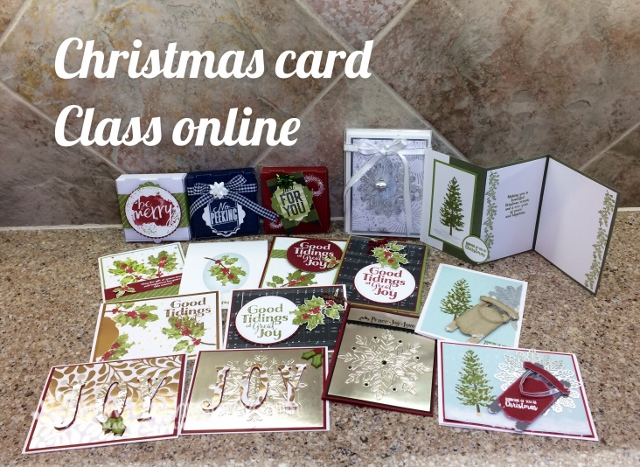 Christmas Card class online. Live You Tube with Frenchie, Stampin'Up!