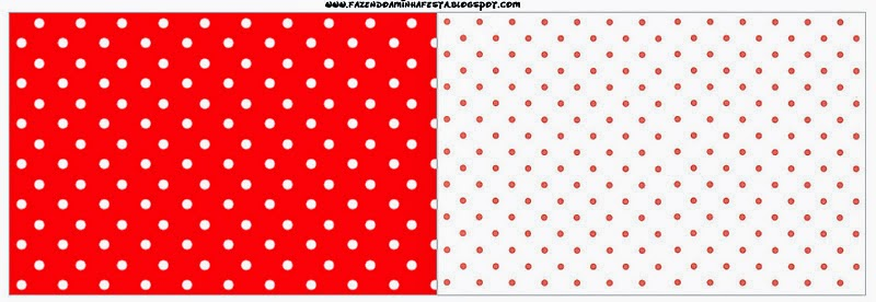 Free Printable Red and White Polka Dots Candy Bar Labels.