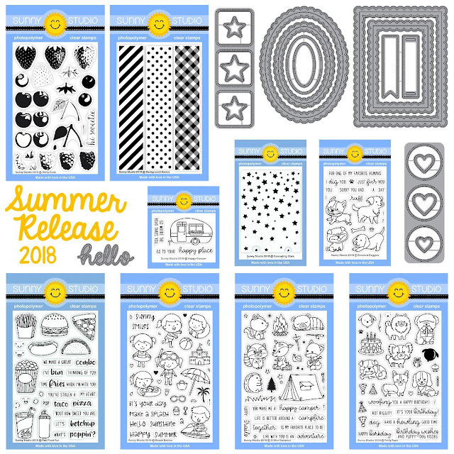 Sunny Studio Stamps: Summer 2018 Release Stamp Sets & Dies