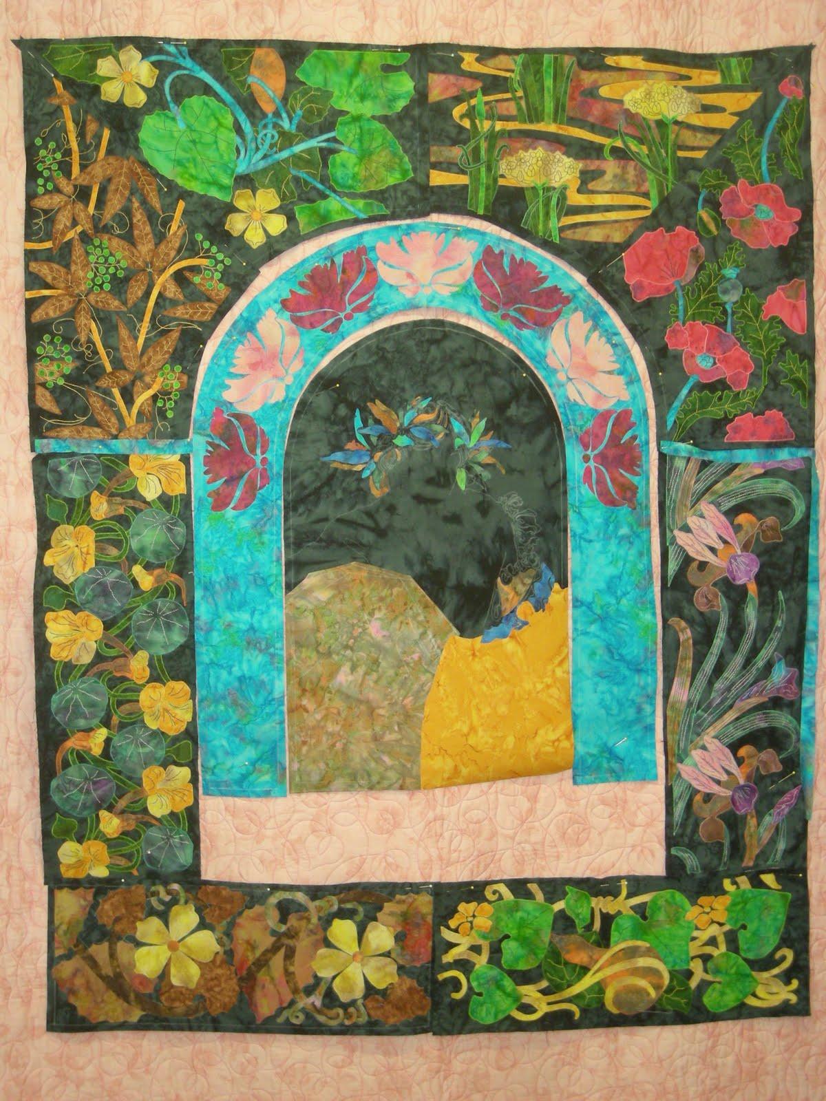 Koolkat's Quilting Blog: Art Nouveau Garden Starts To Bloom