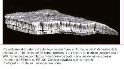 Resto de Ovni estrellado estudiado por científicos