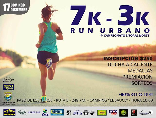 7k y 3k Run urbano en Paso de los toros (Tacuarembó, 17/dic/2017)