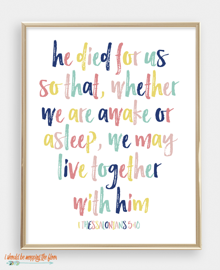 1 Thessalonians 5:10 Printable