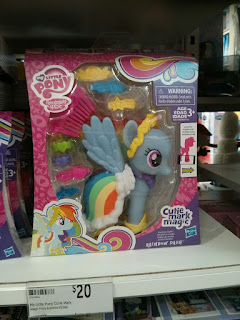 MLP Cutie Mark Magic Rainbow Dash Fashion Style Brushable found at Target Australia