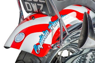 captain america 72 sportster by shaw hd rear fender