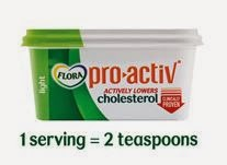 lowering cholesterol, spread