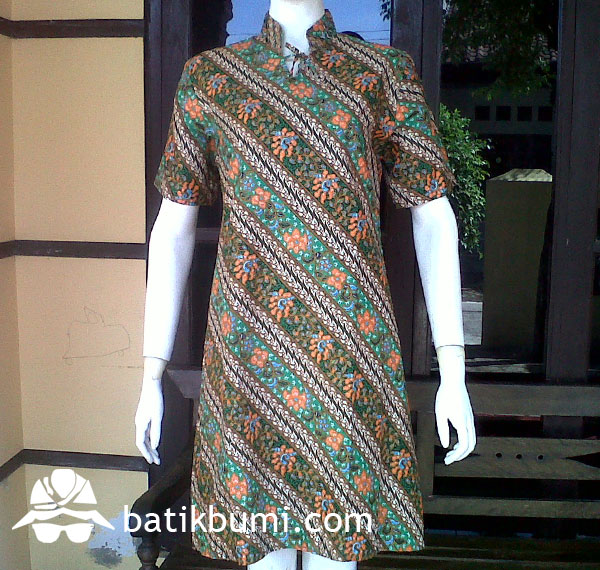 Dress Batik Shanghai Parang Seling DB 065
