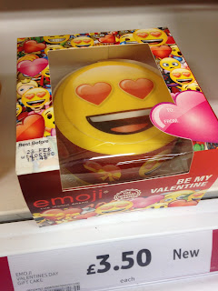 emoji be my valentine cake