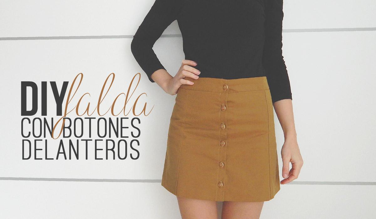 bonita y colorida estilo exquisito descuento más bajo miscelánea diy: DIY | Cómo hacer una falda con botones ...