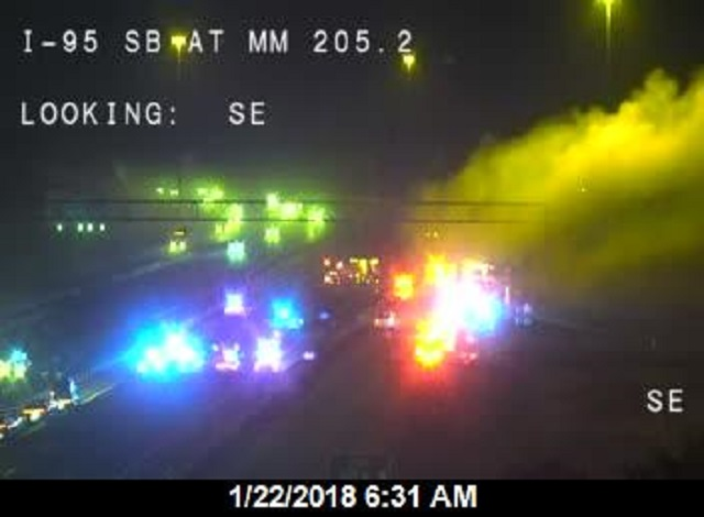 I-95 Re-Opened After Vehicle Fire In Brevard County