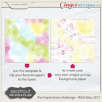 Template : The Paperchase Challenge - iNSD May 2017 by Seatrout Scraps