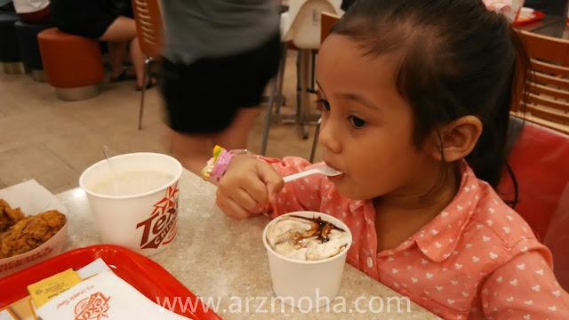 aiskrim di texas chicken, chocolate volcano aiskrim di texas chicken, tempat makan menarik di penang,