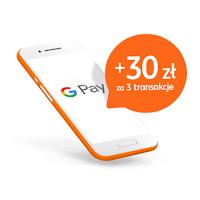 Bonus 30 zł za płatności Google Pay dla klientów ING Banku Śląskiego