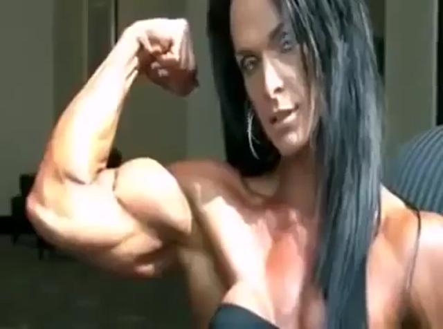 Clip Best Footage Muscular Female bodybuilder! Amazing Body