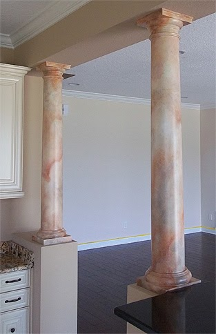 Paint Columns To Look Like Marble Everything I Create