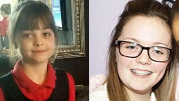 Eight-year-old Saffie Roussos and Georgina Callander are among the dead