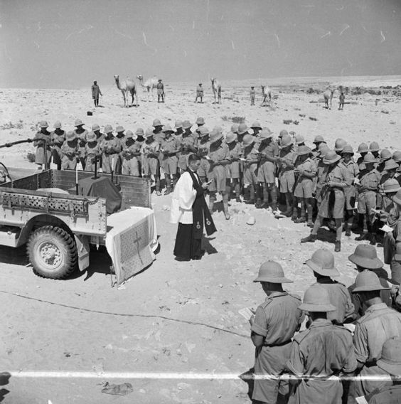 Prayer service in the desert, 22 July 1941 worldwartwo.filminspector.com