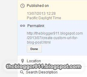 Create Custom URL for Blog Post