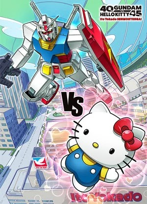 Gundam RX-78-2 dan Hello Kitty