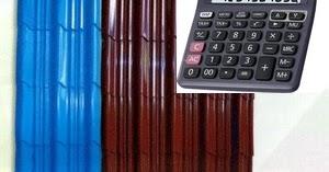 menghitung kebutuhan baja ringan untuk atap cara jumlah lembaran genteng metal ...