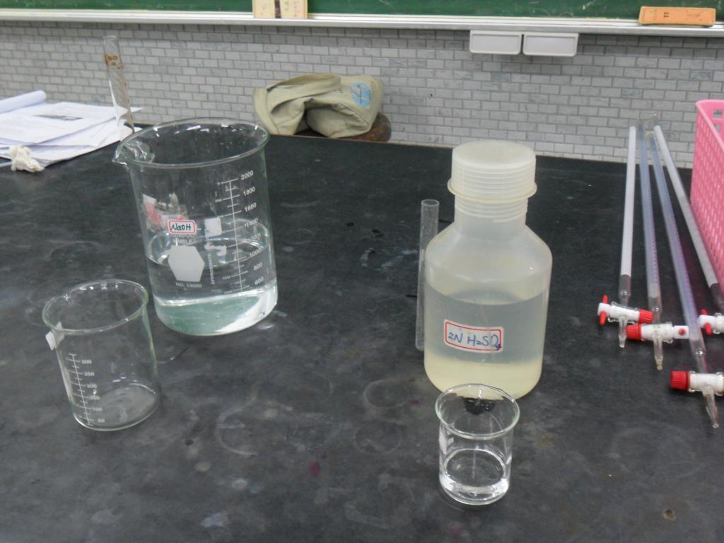 臺北市立弘道國中奧林匹亞化學實驗課程: 2012.03.31 過錳酸鉀還原成不同氧化態的錳離子