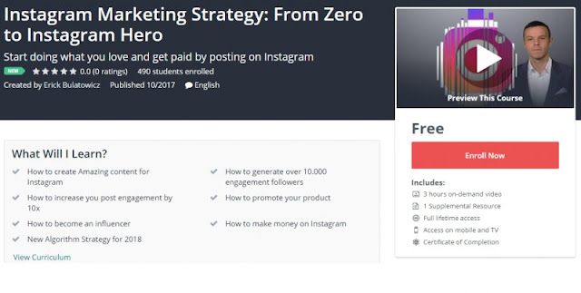 [100% Free] Instagram Marketing Strategy: From Zero to Instagram Hero