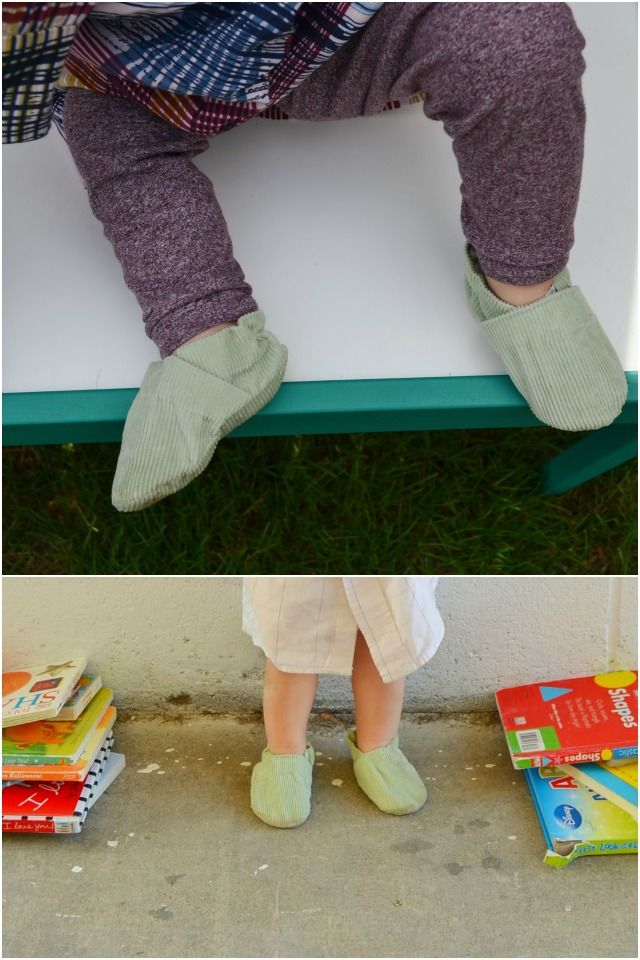 Upcycled Baby Shoes: FREE Baby Shoes Sewing Pattern // How to Upcycle
