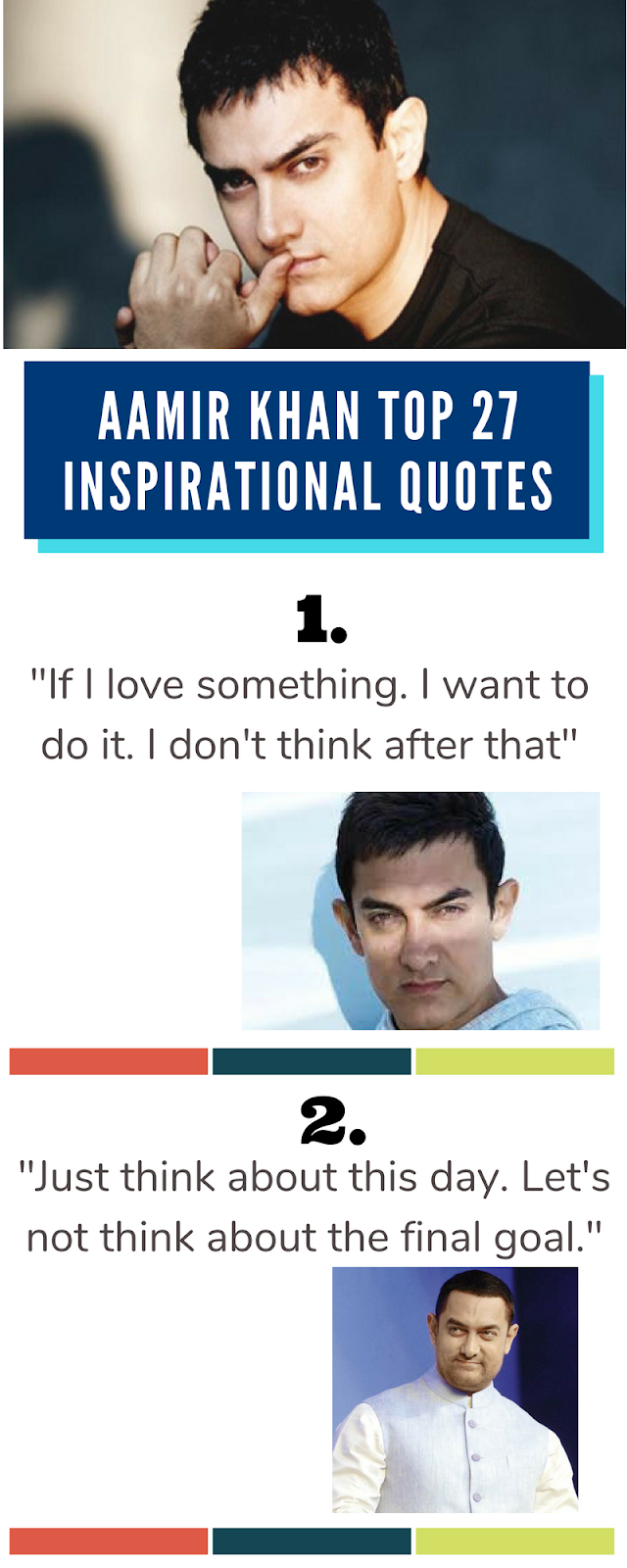Top 27 Inspirational Quotes of Aamir Khan (Infographic)
