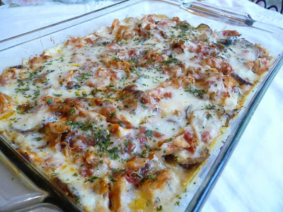 ROASTED EGGPLANT CREAMY CHICKEN LASAGNA