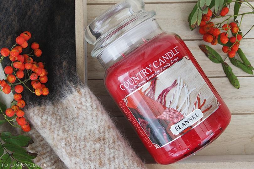 jesienna świeca zapachowa country candle flannel