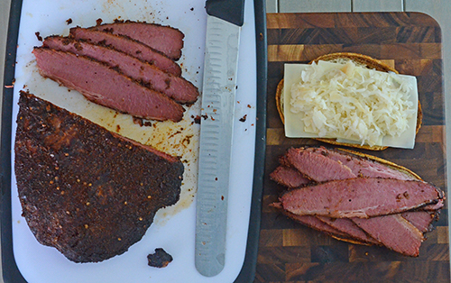 Certified Angus Beef pastrami on a Reuben sandwich.