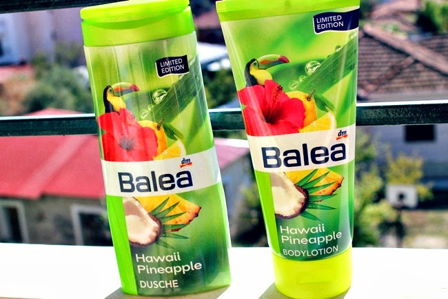 BALEA limited editions Hawaii Pineapple shower gel and body lotion