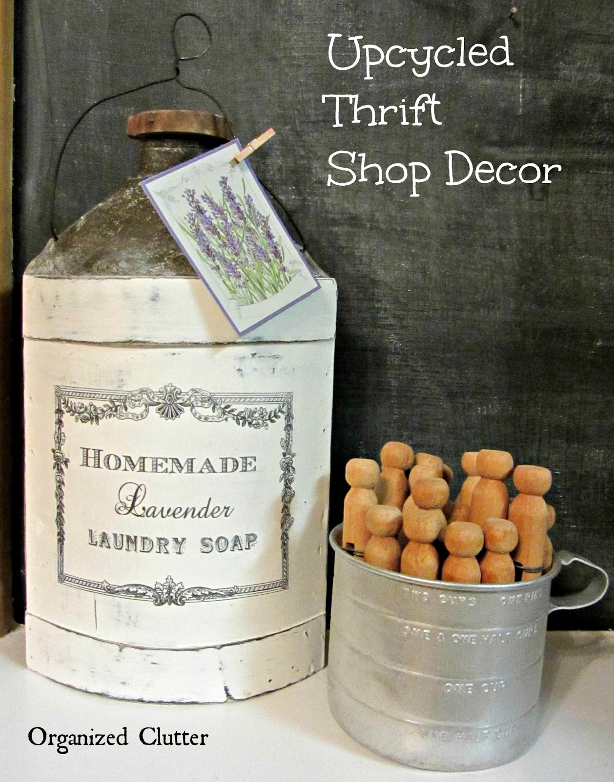 Thrift Shop Upcycle with Chalk Paint & Image Transfer www.organizedclutter.net