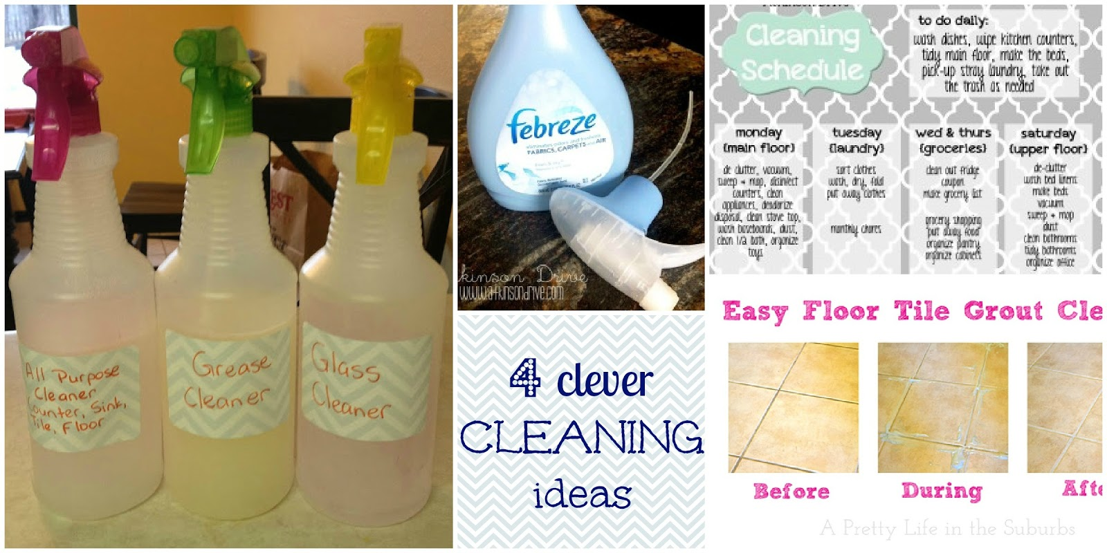 4 clever cleaning ideas