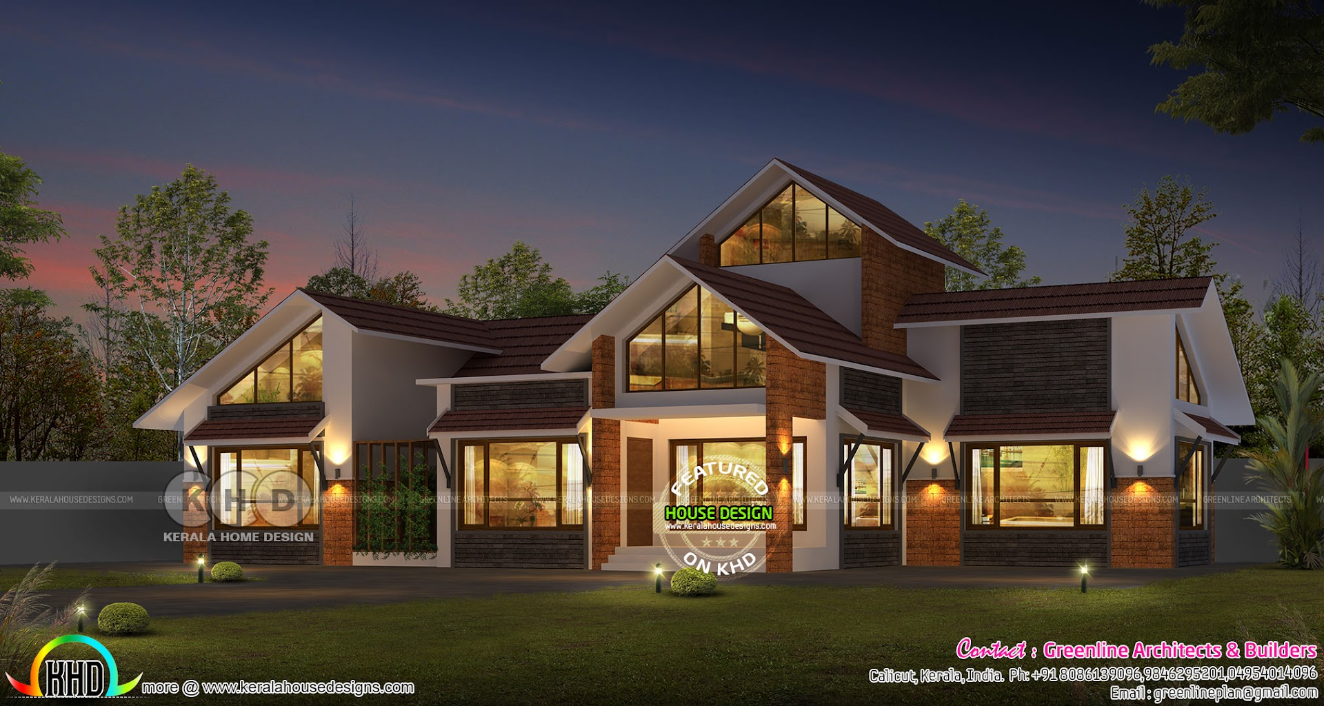 2300 Sq Ft 3 Bedroom Sloping Roof Home Kerala Home Design Bloglovin