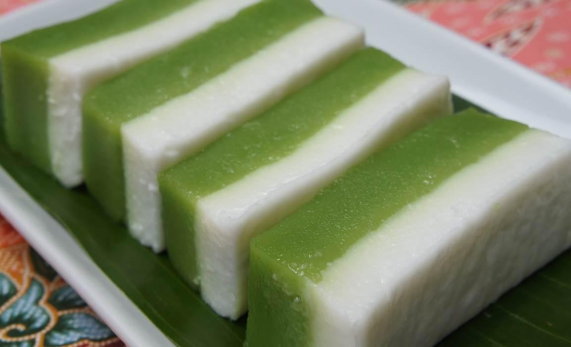 Resepi Kuih Talam Lapis Pandan Dan Gula Merah Sed