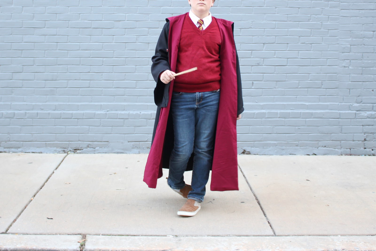 7eab1c71083 Harry Potter. This costume feels inevitable. I think we have been reading  HP continuously since 2015. We re reading book 7 at bedtime now