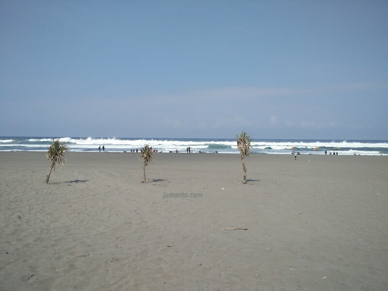 gambar hamparan pasir pantai parangkusumo jogja